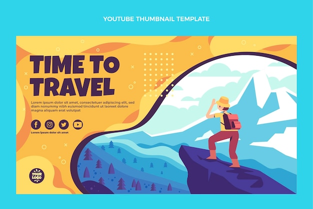 평면 디자인 여행 youtube 미리보기 이미지