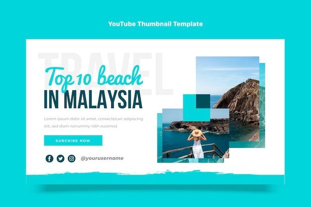 フラットデザイン旅行youtubeサムネイル