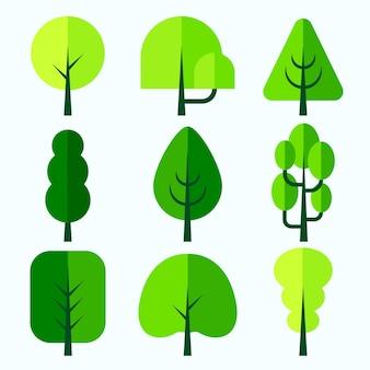 フラットデザインタイプの木