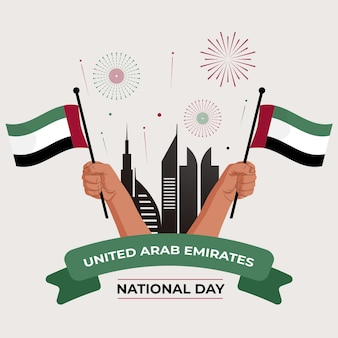 Плоский дизайн национальный день оаэ