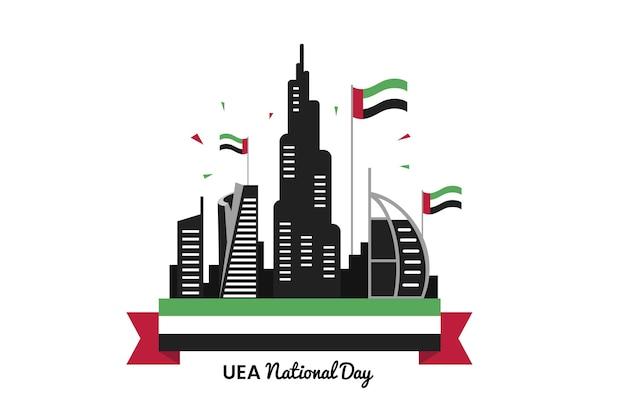 Национальный день оаэ в плоском дизайне