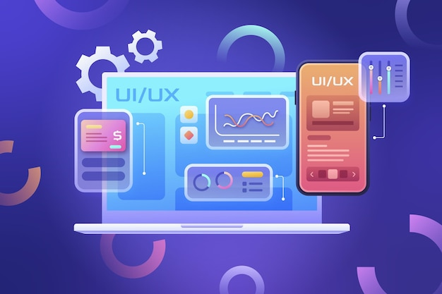 Flat design ui and ux background