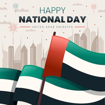 Design piatto giornata nazionale degli emirati arabi uniti