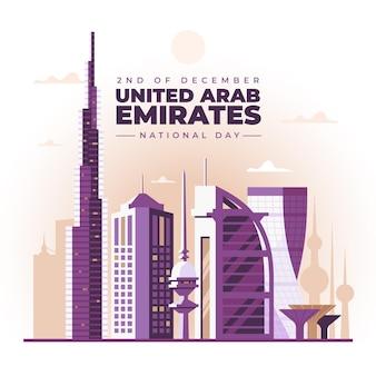 Плоский дизайн национальный день объединенных арабских эмиратов