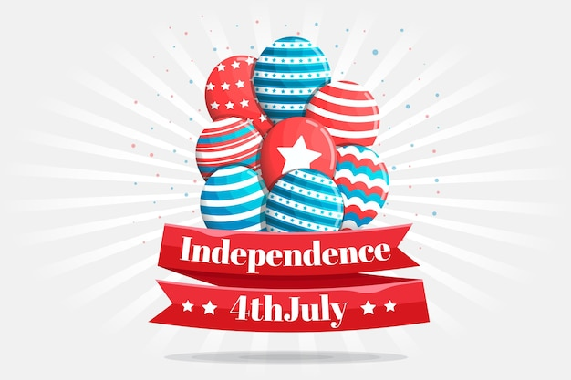 Flat design usa independence day background