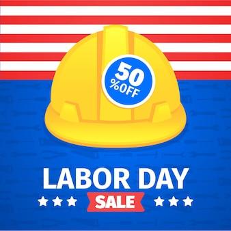 Flat design usa labor day concept