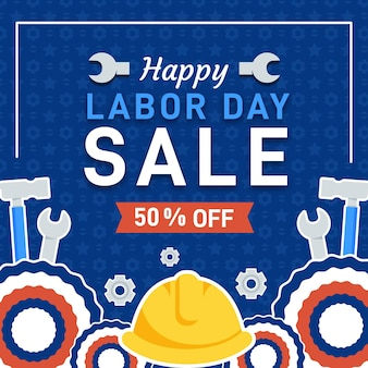 Flat design usa labor day sale