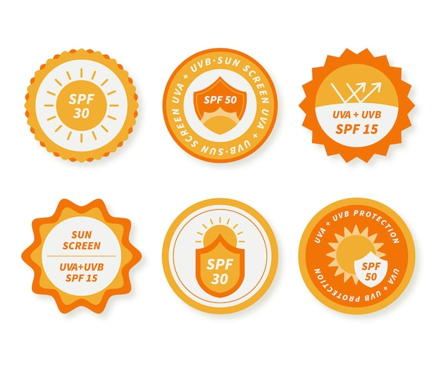 Flat design uv badge collection