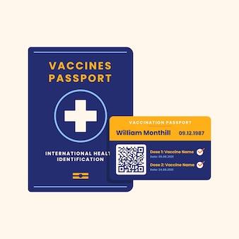 Flat design vaccination passport