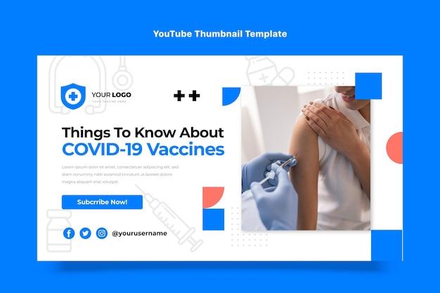 Informazioni sui vaccini dal design piatto miniatura di youtube