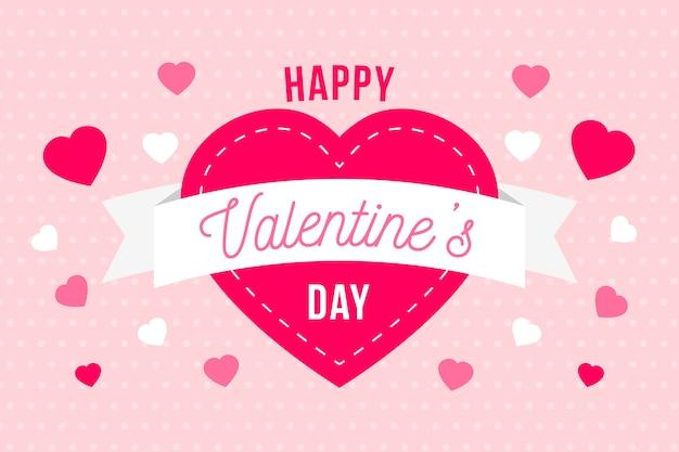 Flat design valentine's day background