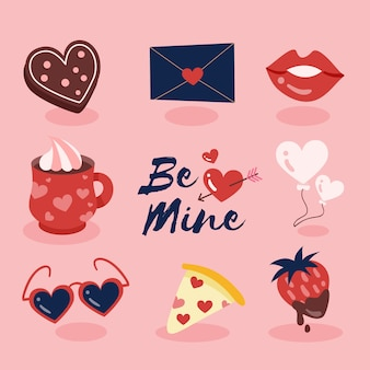 Flat design valentine's day collection