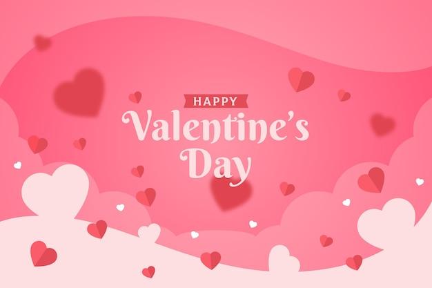 フラットなデザインのバレンタインデーの挨拶の壁紙