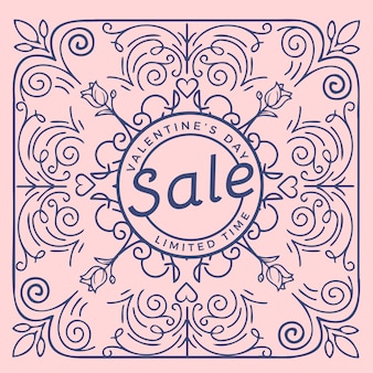Flat design valentine's day sale