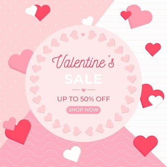 Flat design valentine's day sale