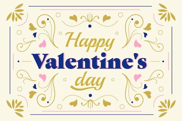 Flat design valentine's day wallpaper