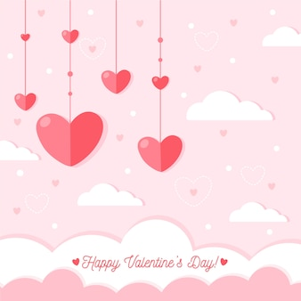 Flat design valentines day background concept
