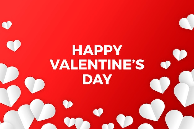 Flat design valentines day background concept