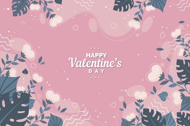 Flat design valentines day background