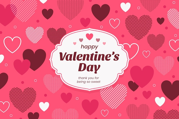 Flat design valentines day background