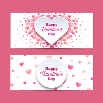 Flat design valentines day banners
