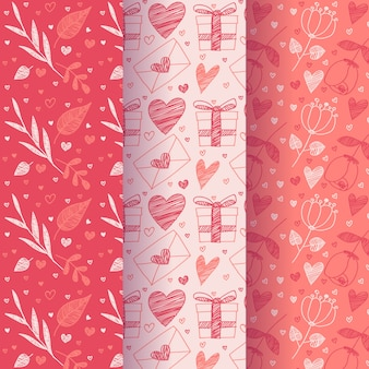 Flat design valentines day pattern collection design