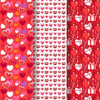 Collezione di modelli di san valentino design piatto