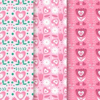 평면 디자인 발렌타인 패턴 컬렉션