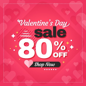 Flat design valentines day promotional sale