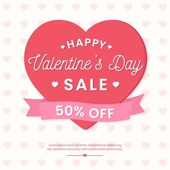 Flat design valentines day sale
