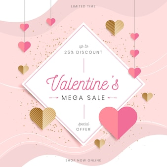 Flat design valentines day sale