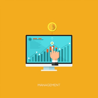 Flat design vector illustration concept for seo optimization