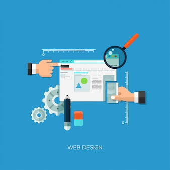 Flat design vector illustration concept for web design