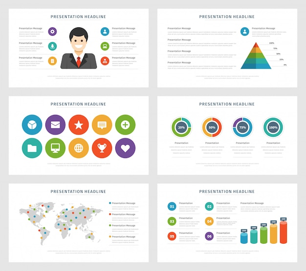 Flat design vector illustration infographic design elements