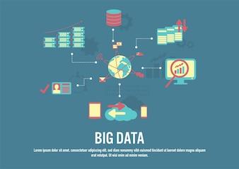 Flat design vector of Big data concept