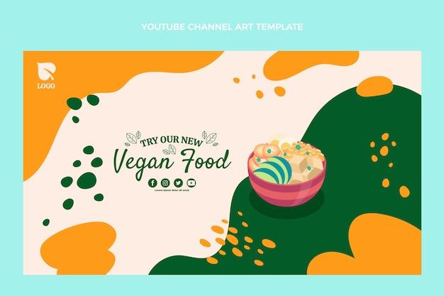 평면 디자인 비건 음식 유튜브 채널