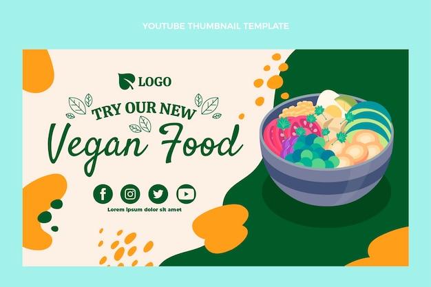 Miniatura di youtube di cibo vegano dal design piatto