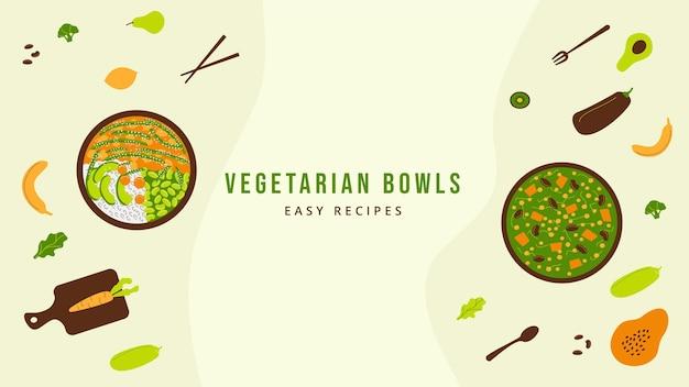 Плоский дизайн вегетарианская еда канал на youtube