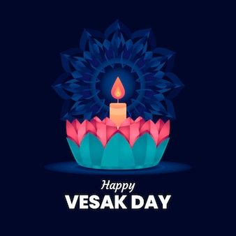 Flat design of vesak concept