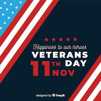 Flat design veterans day background