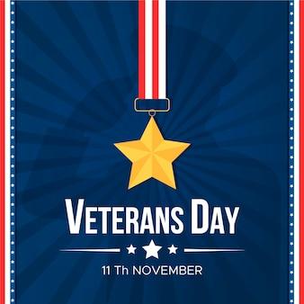 Плоский дизайн концепции дня ветеранов