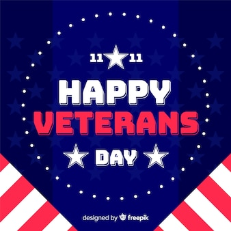 Flat design veterans day wallpaper