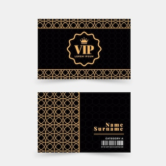 フラットデザインのvipカード