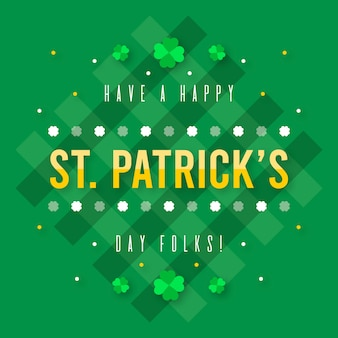 Flat design wallpaper st. patrick's day