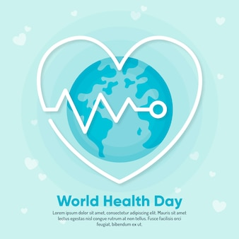 Flat design wallpaper world health day