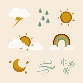 평면 디자인 날씨 효과