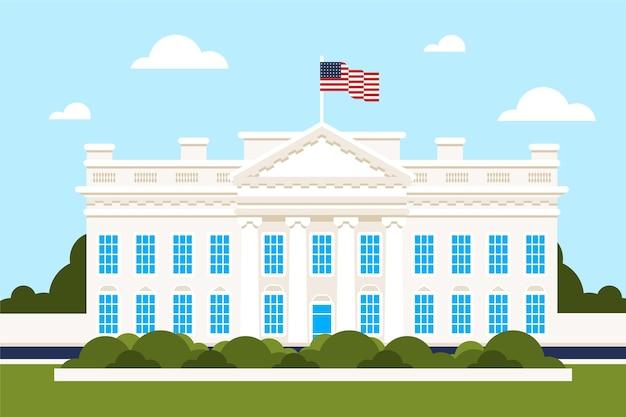 일광에 평면 디자인 백악관
