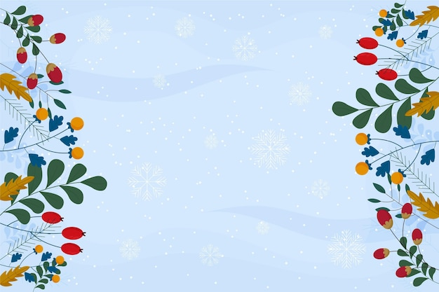 Flat design winter background