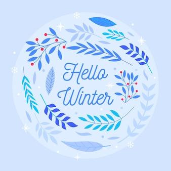 Sfondo invernale design piatto