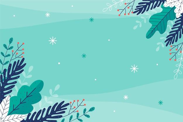 Плоский дизайн зимний фон